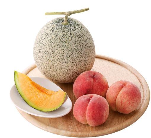 大丸松阪屋フルーツメロンと桃